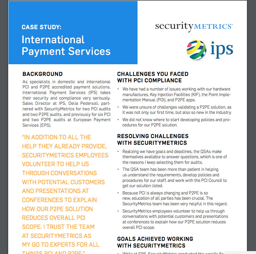 International Payment Services Case Study